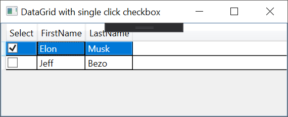 WPF - DataGrid with single click checkbox - Code4Noobz