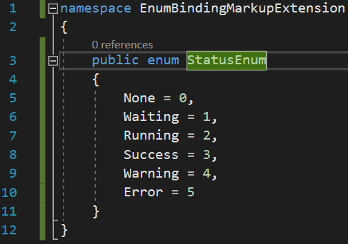 Enum binding to combobox markupextension