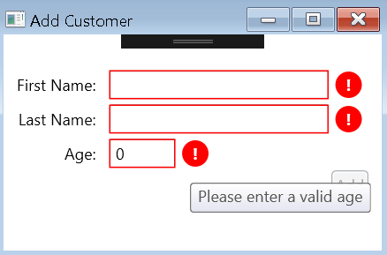 WPF - MVVM TextBox Validation with IDataErrorInfo - Code4Noobz